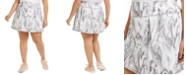 Ideology Plus Size Marble-Swirl Skort, Created for Macy's