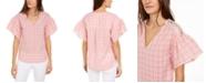 Michael Kors Glam Plaid Top, Regular & Petite