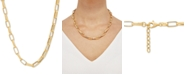"""Macy's Paperclip Link 19"""" Chain Necklace in 18k Gold-Plated Sterling Silver"""