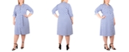 NY Collection Plus Size Printed Shirtdress