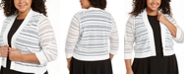 Calvin Klein Plus Size Three-Quarter-Sleeve Cardigan