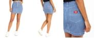 Dickies Junior's Striped Jean Mini Skirt