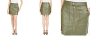 Bar III Faux-Leather Zip-Front Mini Skirt, Created for Macy's
