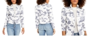 INC International Concepts INC Puff-Sleeve Printed Denim Blazer, Created for Macy's