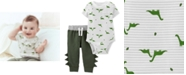 Carter's Baby Boys 2-Pc. Cotton Dinosaur-Print Bodysuit & Pants Set