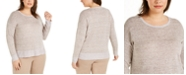 Eileen Fisher Plus Size Organic Linen Sweater
