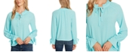 CeCe Ruffled Bell-Sleeve Top