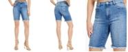 GUESS Relaxed Denim Biker Shorts