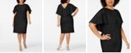 Calvin Klein Plus Size Capelet Sheath Dress