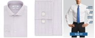 Calvin Klein Calvin Klein Men's Slim-Fit Stretch Performance Micro-Check Dress Shirt