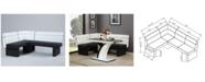 Chintaly Natasha 2-Tone Fully Upholstered Reversible Bench Nook