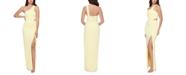 XSCAPE One-Shoulder Scuba Crepe Gown