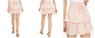 Be Bop Juniors' Printed Tiered Eyelet Mini Skirt