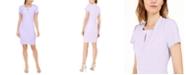 Calvin Klein Square-Neck Keyhole Sheath Dress