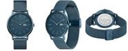 Lacoste Men's Moon Blue Stainless Steel Mesh Bracelet Watch 40mm