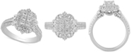Enchanted Disney Fine Jewelry Enchanted Disney Diamond Cinderella Cluster Ring (3/4 ct. t.w.) in 14k White Gold