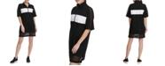 DKNY Sport Colorblocked Half-Zip Sheer-Hem  Dress
