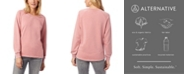 Alternative Apparel Lazy Day Burnout French Terry Women's Pullover Sweatshirt