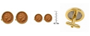 American Coin Treasures Indian Penny Bezel Coin Cuff Links
