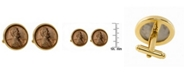 American Coin Treasures 1909 First-Year-Of-Issue Lincoln Penny Bezel Coin Cuff Links