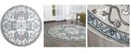 "Global Rug Designs Jano Jan06 Silver 7'10"" x 7'10"" Round Rug"