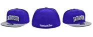 Mitchell & Ness Sacramento Kings Wool 2 Tone Fitted Cap