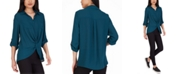 BCX Juniors' Twist-Front Shirt