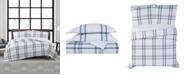 London Fog Kent Plaid 3 Piece Comforter Set, Full/Queen