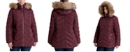 Michael Kors Plus Size Faux-Fur Trim Hooded Puffer Coat, Created for Macy's