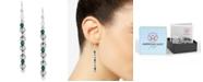 American West Malachite Bead Drop Earrings in Sterling Silver