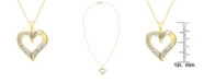 Macy's Diamond Accent Gold-plated Open Heart Pendant Necklace