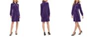Calvin Klein Velvet Tie-Front Shift Dress