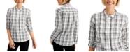 Charter Club Plaid Button-Down Shirt, Created for Macy's