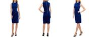 Calvin Klein Velvet Tie-Neck Sheath Dress