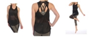 American Fitness Couture Mesh Get Twisted Tank