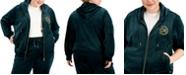Calvin Klein Plus Size Velour Logo Zip Hoodie