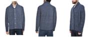 X-Ray  Men's Shawl Collar Cable Knit Cardigan