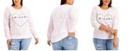 Love Tribe Trendy Plus Size Friends Heart Sweatshirt