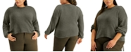 FULL CIRCLE TRENDS Trendy Plus Size Bubble-Sleeve Sweater