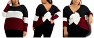 FULL CIRCLE TRENDS Trendy Plus Size Reversible Twisted Sweater