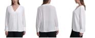 Calvin Klein Plus Size Scalloped-Trim Top