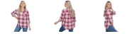 Lids UG Apparel Indiana Hoosiers Women's Flannel Boyfriend Plaid Button Up Shirt
