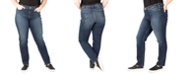 Silver Jeans Co. Plus Size Avery High-Rise Straight-Leg Jeans