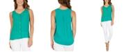 BCX Juniors' Button-Front Sleeveless Blouse