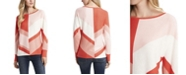 Vince Camuto Women's Dolman Sleeve Chevron Colorblock Sweater