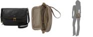 Fossil Preston Leather Flap Shoulder Bag