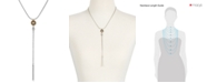Lucky Brand Two-Tone Imitation Pearl Y-Neck Necklace