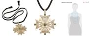 RACHEL Rachel Roy Gold-Tone Faux Suede Convertible Pendant Necklace