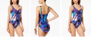 Calvin Klein Monet Tiered One-Piece Swimsuit, Created for Macy's