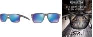 Oakley Polarized Holbrook Metal Prizm Sapphire Polarized Sunglasses , OO4123 55